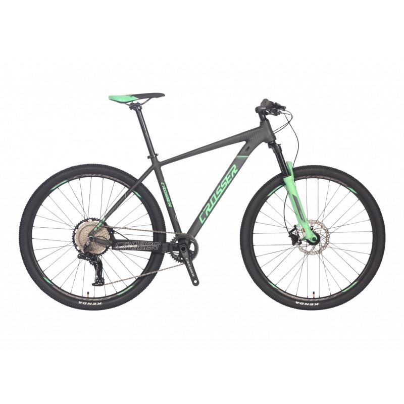"""Гірський велосипед Crosser 29"""" 19"""" 075-C LTWOO 12s гідравліка Зелений"""