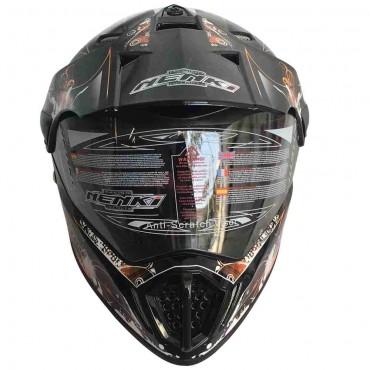 Мотошлем NENKI MX310 BLACK ORANGE