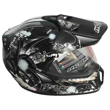 Мотошлем NENKI MX310 BLACK WHITE
